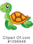 Sea Turtle Clipart #1096948 by visekart