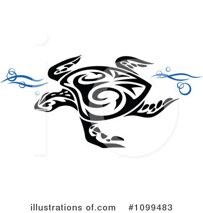 Sea Turtle Clipart #1099483 by Vector Tradition SM
