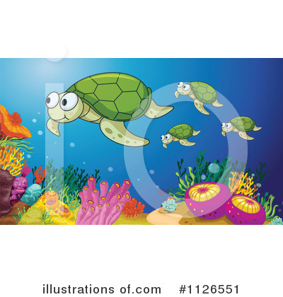 Sea Turtle Clipart #1126551 by Graphics RF