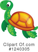 Sea Turtle Clipart #1240305 by visekart