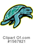 Sea Turtle Clipart #1567821 by patrimonio