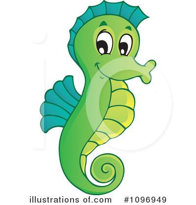 Seahorse Clipart #1096949 - Illustration by visekart