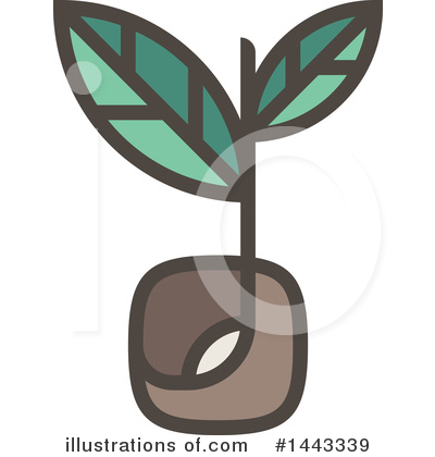 Royalty-Free (RF) Seedling Clipart Illustration by elena - Stock Sample #1443339