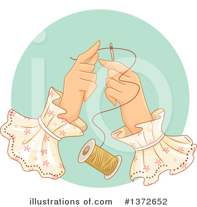 Royalty-Free (RF) Sewing Clipart Illustration by BNP Design Studio - Stock Sample #1372652