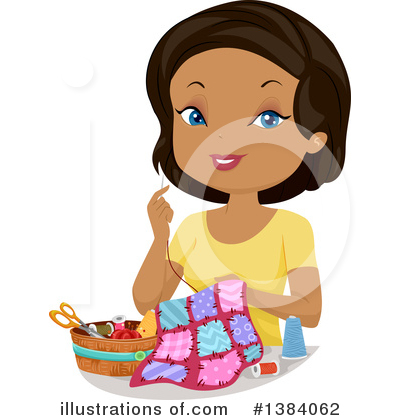 Royalty-Free (RF) Sewing Clipart Illustration by BNP Design Studio - Stock Sample #1384062
