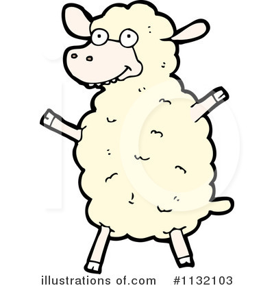 Royalty Free (RF) Sheep Clipart Illustration #1132103 By Lineartestpilot