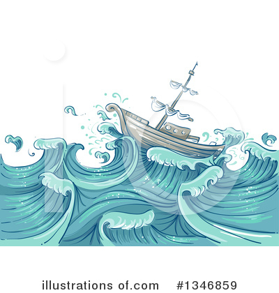Waves Clipart #1346859 by BNP Design Studio