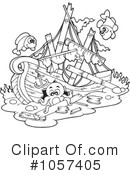 Shipwreck Clipart #1064154 - Illustration by visekart