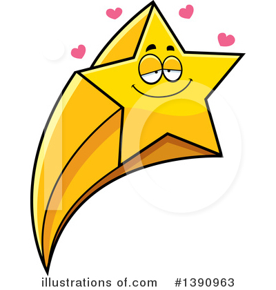 Shooting Star Clipart #1390963 - Illustration by Cory Thoman