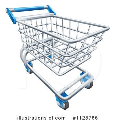 Shopping Cart Clipart #1125766 - Illustration by AtStockIllustration
