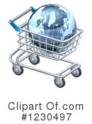 Shopping Cart Clipart #1230497 by AtStockIllustration