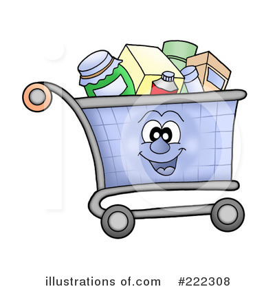 Shopping Cart Clipart #222308 - Illustration by visekart