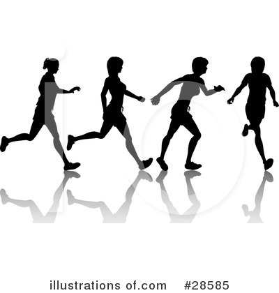 Jogging Clipart #28585 by KJ Pargeter