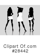 Silhouetted Woman Clipart #28442 by KJ Pargeter