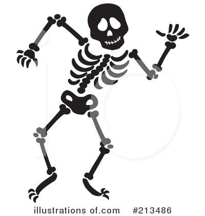 Skeleton Clipart #213486 - Illustration by visekart