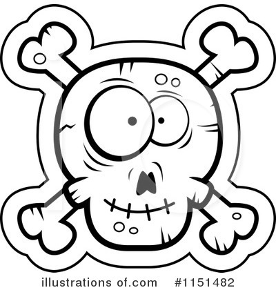 Royalty-Free (RF) Skull And Crossbones Clipart Illustration by Cory Thoman - Stock Sample #1151482