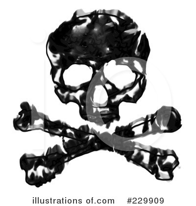 Skull And Crossbones Clipart #229909 - Illustration by Arena Creative