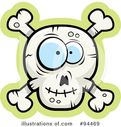 Skull And Crossbones Clipart #94469 - Illustration by Cory Thoman