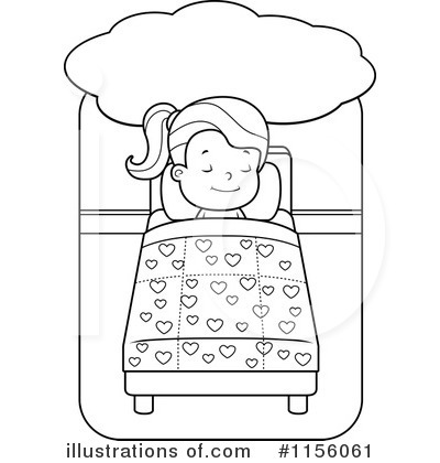 Sleeping Clipart #1156061 - Illustration by Cory Thoman