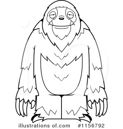 Sloth Clipart #1156792 - Illustration by Cory Thoman