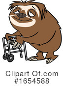 Sloth Clipart #1654588 by toonaday