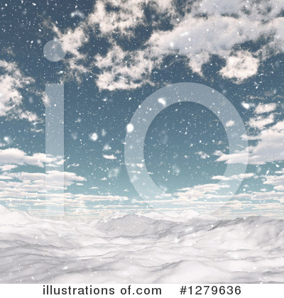 Winter Landscape Clipart #1279636 by KJ Pargeter