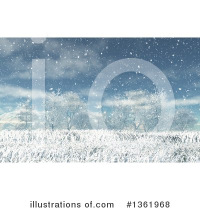 Winter Landscape Clipart #1361968 by KJ Pargeter