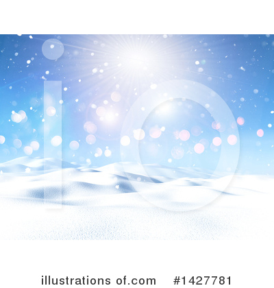 Winter Landscape Clipart #1427781 by KJ Pargeter