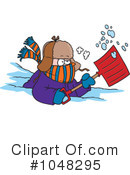Snow Shovel Clipart #1047905 - Illustration by Ron Leishman