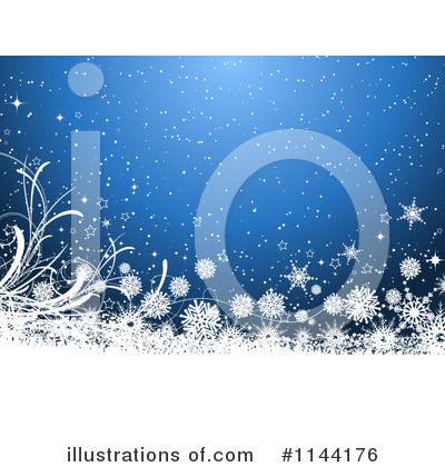 Snowflake Background Clipart #1144176 by KJ Pargeter