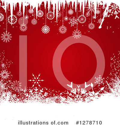 Snowflake Background Clipart #1278710 by KJ Pargeter