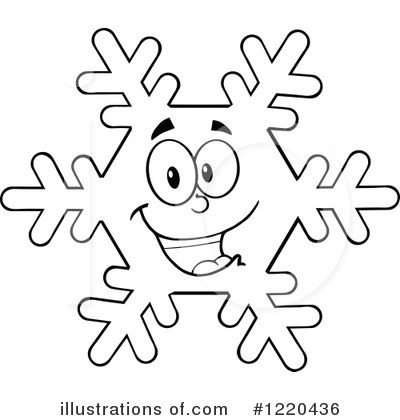 Snowflake Clipart #1220436 - Illustration by Hit Toon