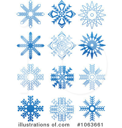Snowflakes Clipart #1063661 - Illustration by Vector Tradition SM