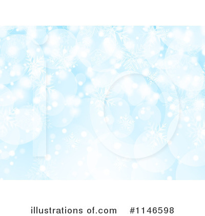 Snowflake Background Clipart #1146598 by KJ Pargeter