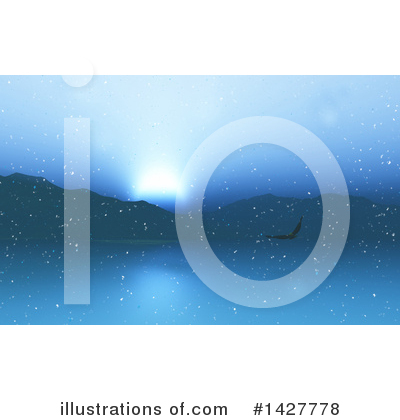 Winter Landscape Clipart #1427778 by KJ Pargeter