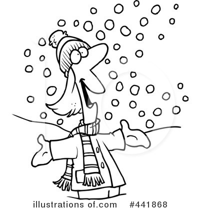 Snowing Clipart #441868 - Illustration by toonaday