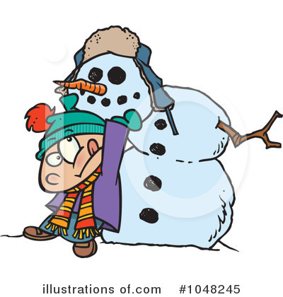 Snowman Clipart #1048245 by toonaday