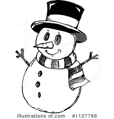 Snowman Clipart #1127768 - Illustration by visekart