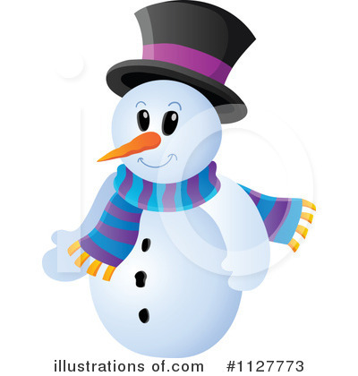 Snowman Clipart #1127773 - Illustration by visekart