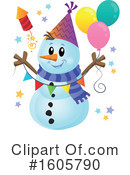 Snowman Clipart #1605790 by visekart
