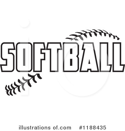 Softball Clipart 1188435 Illustration By Johnny Sajem