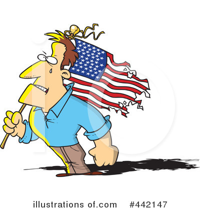 American Flag Clipart #442147 by toonaday