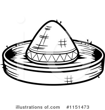 Sombrero Clipart #1151473 - Illustration by Cory Thoman
