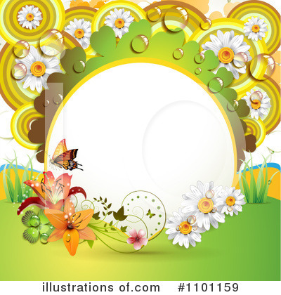 Royalty-Free (RF) Spring Background Clipart Illustration by merlinul - Stock Sample #1101159
