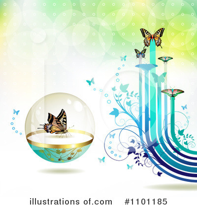 Royalty-Free (RF) Spring Background Clipart Illustration by merlinul - Stock Sample #1101185