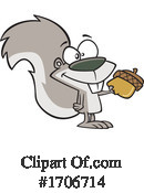 Squirrel Clipart #1706714 by toonaday