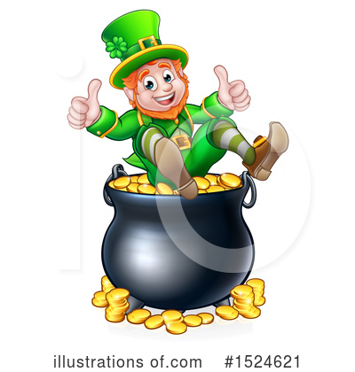 Leprechaun Clipart #1524621 by AtStockIllustration
