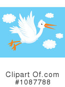 Stork Clipart #1087788 by Alex Bannykh