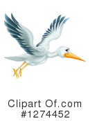 Stork Clipart #1274452 by AtStockIllustration