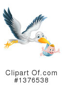 Stork Clipart #1376538 by AtStockIllustration